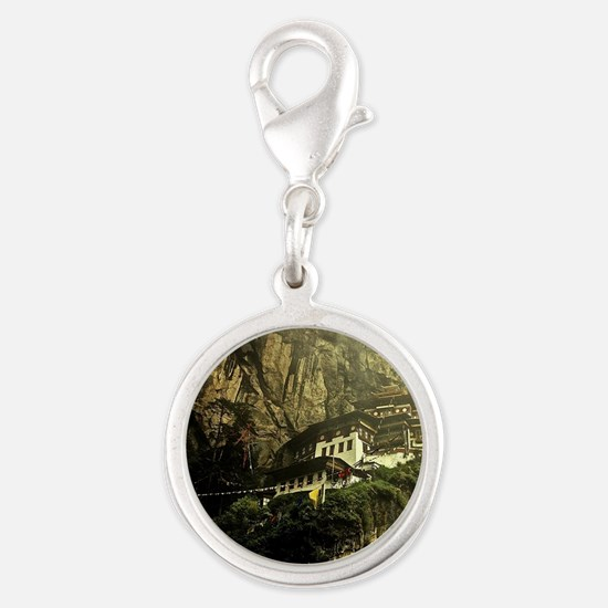 The Tigers Nest Silver Round Charm