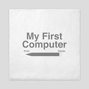 My First Computer Queen Duvet