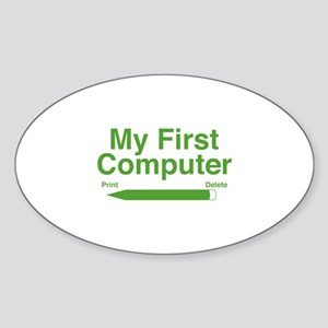 My First Computer Sticker (Oval)