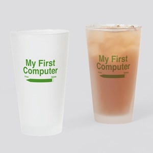 My First Computer Drinking Glass