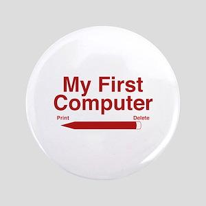"My First Computer 3.5"" Button"