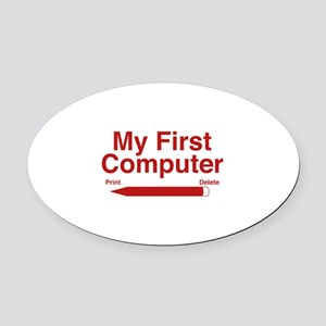 My First Computer Oval Car Magnet