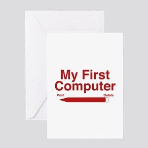 My First Computer Greeting Card