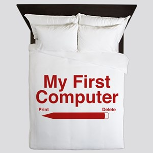 My First Computer Queen Duvet