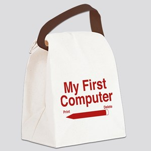 My First Computer Canvas Lunch Bag