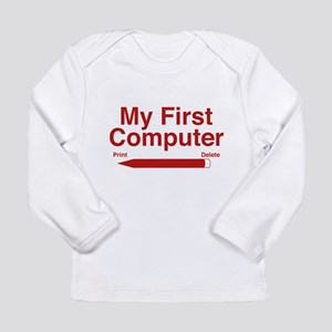 My First Computer Long Sleeve Infant T-Shirt