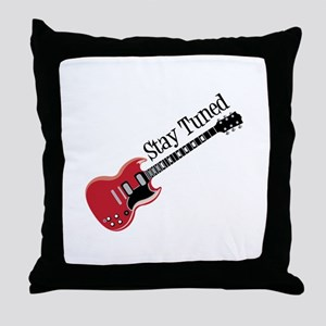 Stay Tuned Throw Pillow