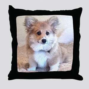 Too Cute Corgi puppy Throw Pillow