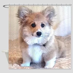 Too Cute Corgi puppy Shower Curtain