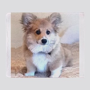 Too Cute Corgi puppy Throw Blanket