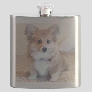Too Cute Corgi puppy Flask