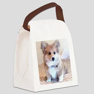 Too Cute Corgi puppy Canvas Lunch Bag