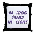 8 Frog Years, 60th Throw Pillow