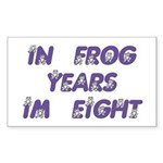 8 Frog Years, 60th Rectangle Sticker