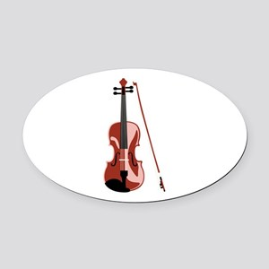 Violin and Bow Oval Car Magnet