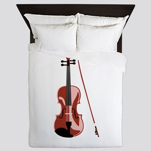Violin and Bow Queen Duvet