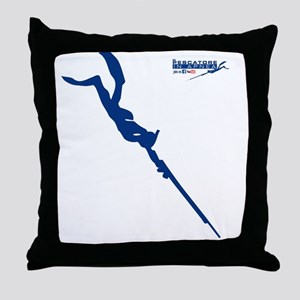 Logo 2 pescatore in apnea Throw Pillow