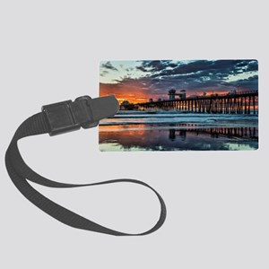 Oceanside Pier Large Luggage Tag