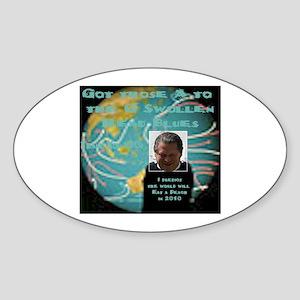 A2daG Swollen Head Blues Oval Sticker