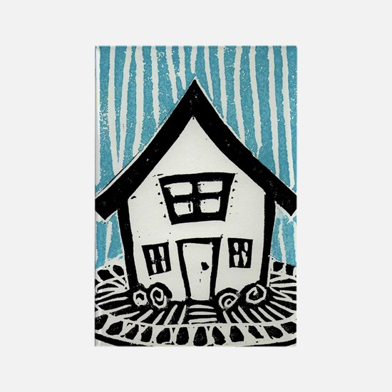 Happy House Rectangle Magnet