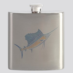 Tribal Sailfish Flask