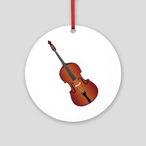 Standup Bass Ornament (Round)