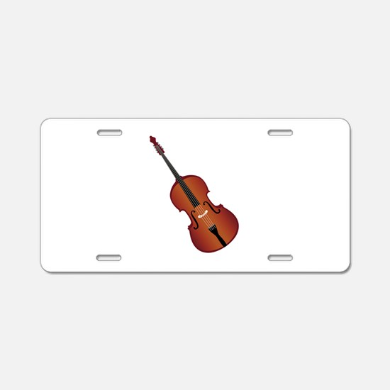 Standup Bass Aluminum License Plate