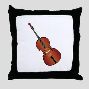 Standup Bass Throw Pillow