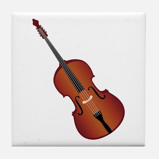 Standup Bass Tile Coaster