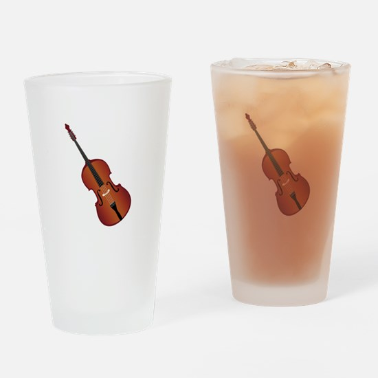 Standup Bass Drinking Glass