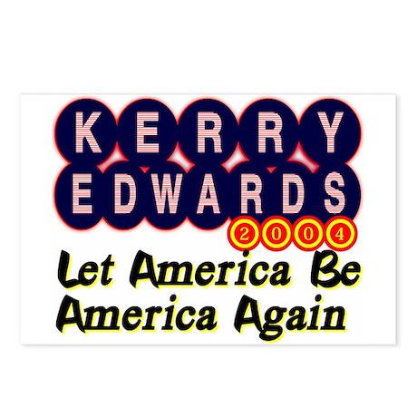 Kerry Edwards 2004 Postcards (8)