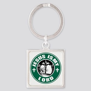 Jesus is my Lord Square Keychain