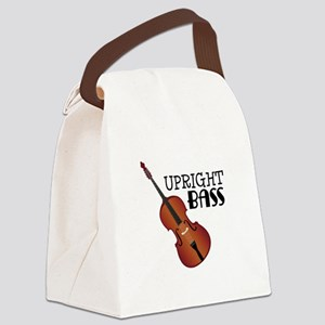 Upright Bass Canvas Lunch Bag