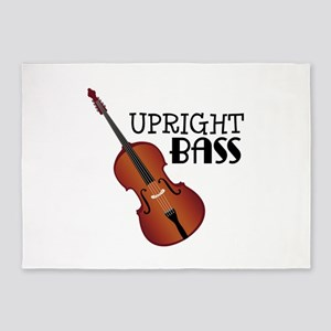 Upright Bass 5'x7'Area Rug