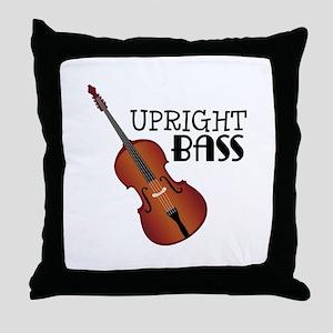 Upright Bass Throw Pillow