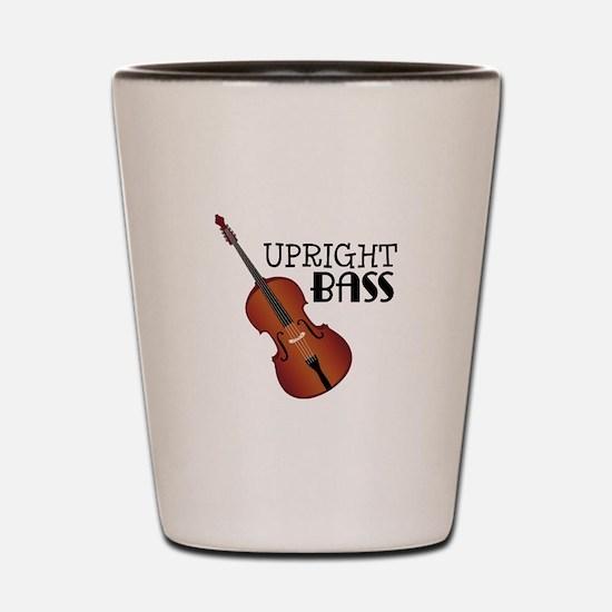 Upright Bass Shot Glass