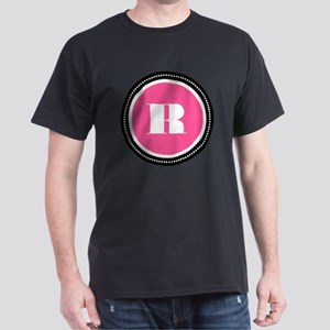 Pink R Monogram Dark T-Shirt