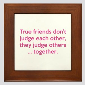 True Friends Framed Tile
