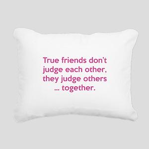 True Friends Rectangular Canvas Pillow