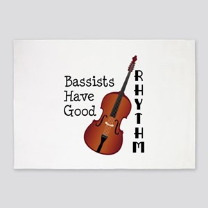 Bassists Have Good Rhythm 5'x7'Area Rug