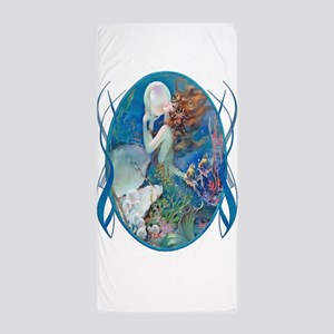 Clive Art Deco Sensual Erotic Pearl Mermaid Towel