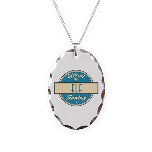 Official Elf Fanboy Necklace Oval Charm