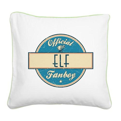 Official Elf Fanboy Square Canvas Pillow