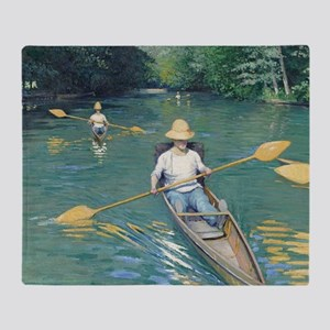 Gustave Caillebotte - Skiffs Throw Blanket