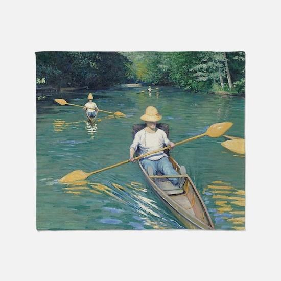Gustave Caillebotte - Skiffs Throw Blanket