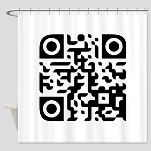 Large Penis QR Code Shower Curtain