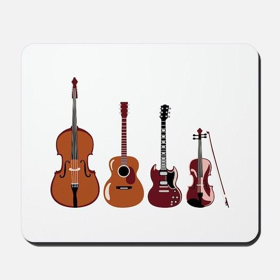 Bass Guitars and Violin Mousepad