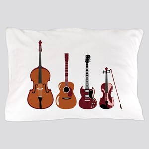 Bass Guitars and Violin Pillow Case