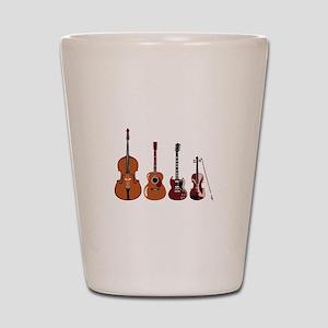 Bass Guitars and Violin Shot Glass