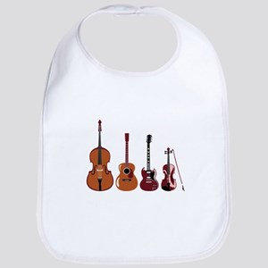 Bass Guitars and Violin Bib